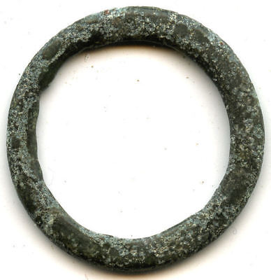 Authentic (21 mm, 1.62 g.) bronze Ancient Celtic ring money, 800-500 BC, Europe