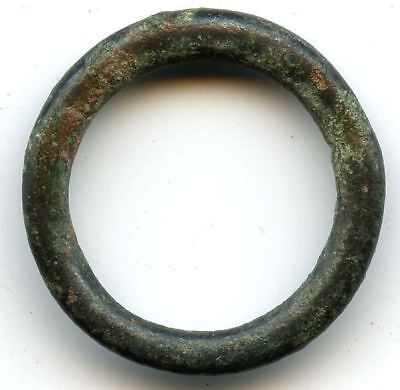 Nice authentic bronze Ancient Celtic ring money, 800-500 BC, Danube Area