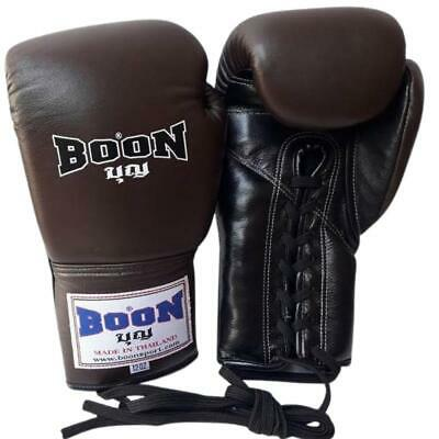 BOON BOXING GLOVES  8,10,12,14,16 OZ ALL BLACK MUAY THAI FIGHTING MMA  K1