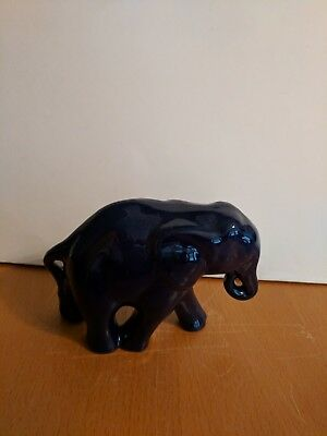 Frankoma WALKING ELEPHANT Figurine Navy