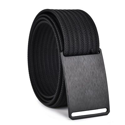 Men's Nylon Belt Adjustable Nylon Webbing Strap With Aluminium Buckle Jeans Gift