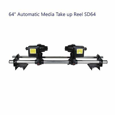 Automatic Media Take up Reel System + Two Motors Pickup Roller for Roland RA-640