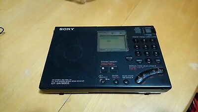 Sony ICF-SW7600G Radio FM Stereo SW MW LW World Band Receiver