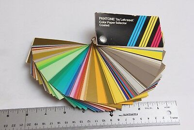 Pantone by Letraset Color Paper Selector Coated Swatch Book Set Vintage