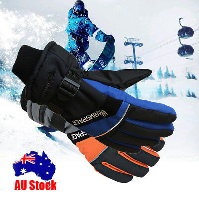 AU Rechargeable Electric Heated Warm Gloves Battery Power Hand Winter Waterproof