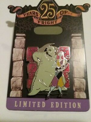 25th Anniversary Nightmare Before Christmas Oogie & Sally Pin LE 4000 Sold Out..