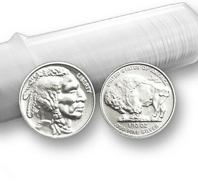 "1/10 oz. .999 Fine Solid Silver Art-Round Mint Uncirculated: "" Buffalo Design """