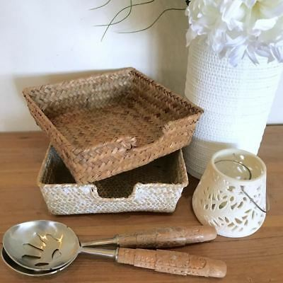 Rattan Serviette Holder Seagrass Napkin