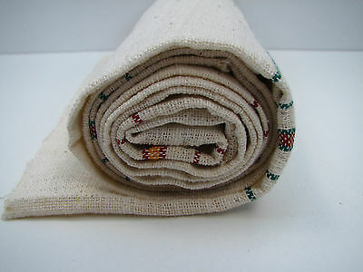 Antique homespun fabric tissue cloth towel handwoven  textile 1.5 yrd