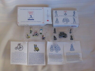 Liberty Falls Pewter Figurine Collection, Americana Pewter Figurines AH135, AH48