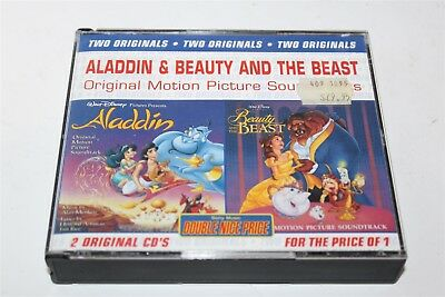 Aladdin & Beauty And The Beast Original Motion Picture Soundtracks CD 1995