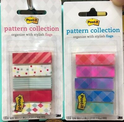 3M Post-it Pattern Collection Flags Repositionable Bookmark Sticky Note Memo New