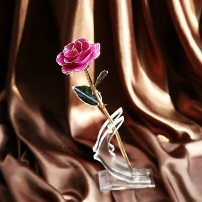 Rose Pink 24K Gold Dipped&Genuine Rose Love Gifts for Valentine's Day Wedding