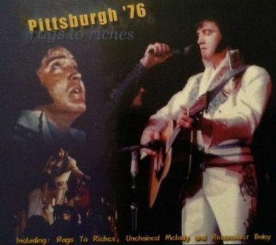 Elvis Presley 2 CD's Rags To Riches Pittsburgh '76 - Digipack