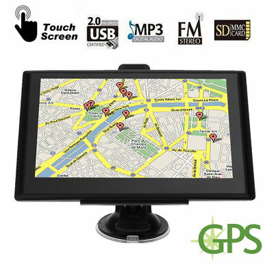 "5"" Auto Car GPS Navigator 8GB Navigation System Touch Screen FM with 3D Maps New"