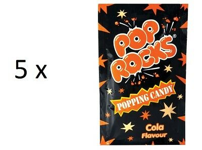 5 x POP ROCKS Cola Flavour Popping Candy, 6g each