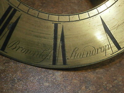 Clock CHAPTER RING from STAINDROP 1700s grandfather longcase dial silvered parts