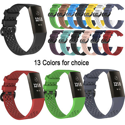 For Fitbit Charge 3 Replacement Silicone Rubber Band Strap Wristband Bracelet CT
