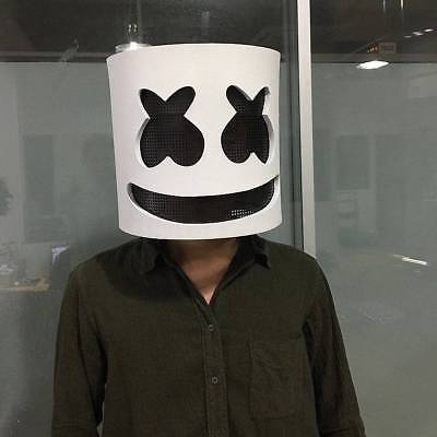 2018 MarshMello DJ Mask Full Head Helmet Halloween Cosplay Mask Bar Music Props