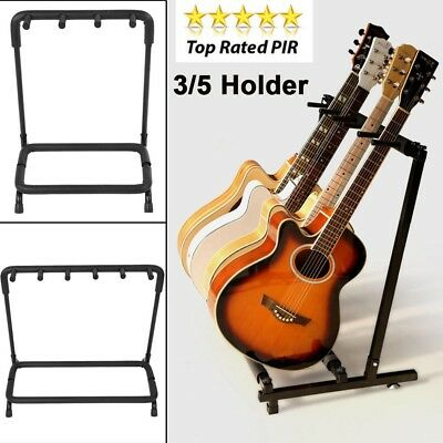 3- 5-7 Way Multi Guitar Stand Foldable Acoustic Electric Bass Guitar Rack NEW