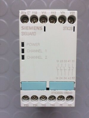 Siemens Siguard 3Tk28 Safety Relay 3Tk2825-1Bb40 24V Dc