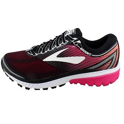 Brooks Ghost 10 Womens Neutral Running Shoes, Black/Pink