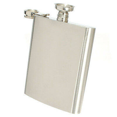6oz Stainless Steel Hip Liquor Whiskey Alcohol Flask Wine Bottle with Funnel