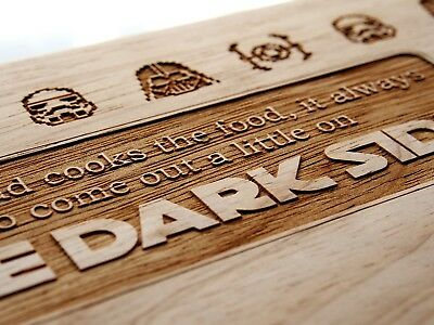 Personalised Star Wars Themed Chopping Board Kitchen Christmas Birthday Gift
