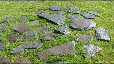 30 x Plum Stepping Stones / Paving Lakeland Slates Natural Shapes