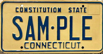 1974 Connecticut sample license plate