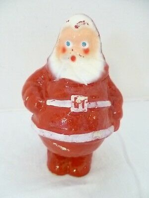 Vtg German Santa 1930's Paper Mache Composition Candy Container Xmas Decor