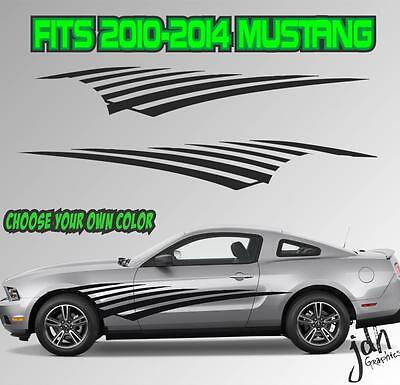 2010-2014 Ford Mustang Lateral Swoosh Tira Adhesivo Vinilo Gt 5.0 Gráfico