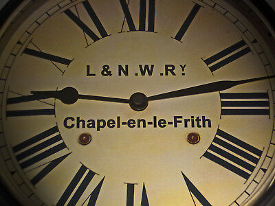 London & North Western Railway Victorian Style Clock, Chapel-en-le-Frith Station