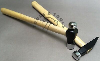 2 Pcs Hammers Set Gold Smith Domed & 4 Oz Ball Peen Mallets Jewelry Repousse