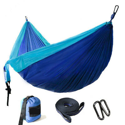 DOUBLE PERSON PARACHUTE Outdoor Camping Hammock Max 660 lbs