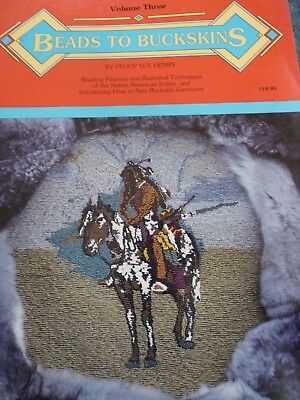 Beads to Buckskins Vol. 3  Patterns & Design Book 1991 perfect condition beading