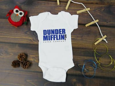 Dunder Mifflin Inspired The Office Dwight Schrute False Funny on Gerber Bodysuit