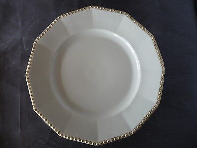 """NYMPHENBURG Bavaria Germany (PERL) PEARL GOLD - One 9.75"""" LUNCH / DINNER PLATE"""
