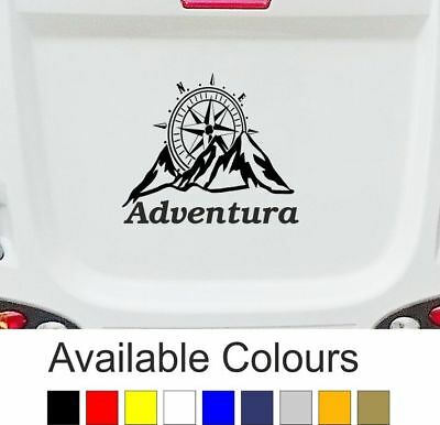 CARAVAN / MOTORHOME | Sticker/Decal | Mountains Compass Adventure | BB230