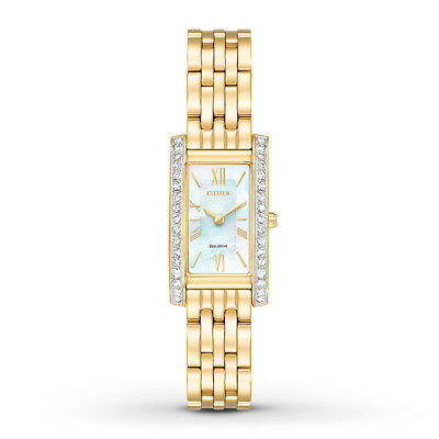 Citizen Eco-Drive Women's Silhouette Gold-Tone Bracelet 18mm Watch EX1472-56D