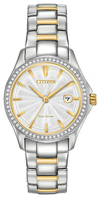 Citizen Eco Drive Women's Crystal Accents Two-Tone 30mm Watch FE1144-69A