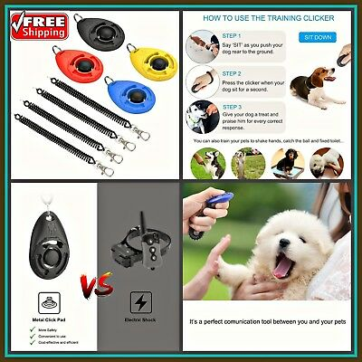 Dog Clicker, [4 PCS, Multi-Color] Diyife Training Clicker With Wrist Strap For