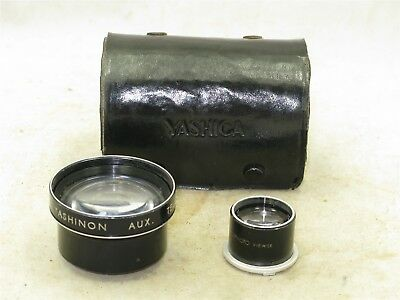 Yashica TLR Yashinon Auxiliary Telephoto Lens Set with Finder and Case