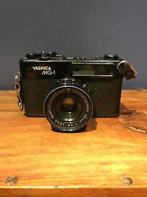 Yashica MG-1 Film Camera with Yashinon 45mm 2.8 Lens, Untested As Is
