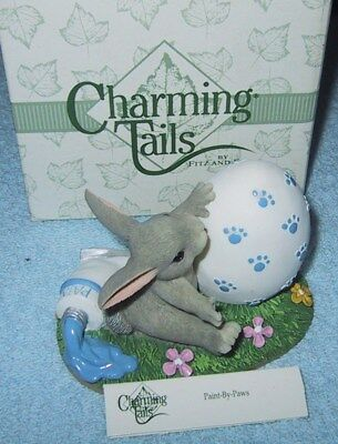 Charming Tails  Paint By Paws   W/box 88/701  Fitz & Floyd