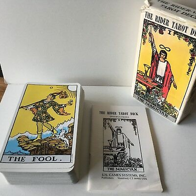 The RIDER TAROT Deck MAgician U.S. Games Systems 78 Cards 1971 Complete