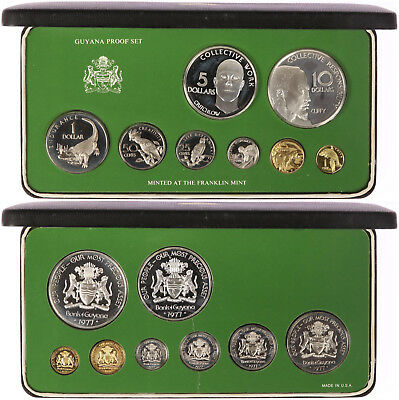 British Virgin Islands Proof Set 1973 Franklin Mint Pp Im Etui