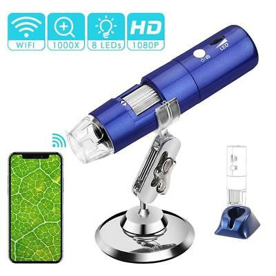 Digital Microscope Camera, ROTEK Wireless Wifi USB Microscope 2MP 1080P HD Kids