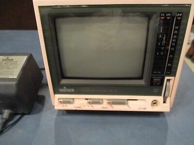 "Unitech 4.5"" Portable Black & White Tv, Model No. Pe-10"