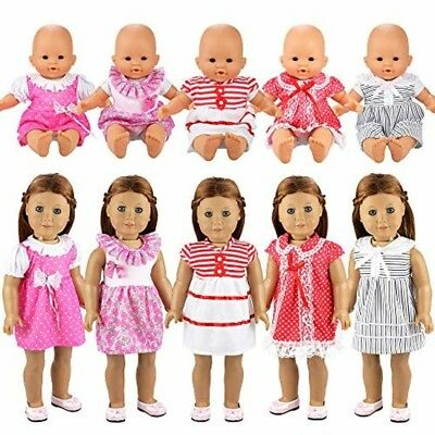 Barwa Handmade 5 Pcs Dresses Clothing Lovely Clothes Costume for 14 to 16 Inch A
